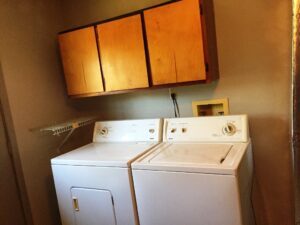 Laundry Area in Garage